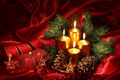 Weihnachten kerzen